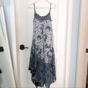 Boston Proper Blue Paisley Dress